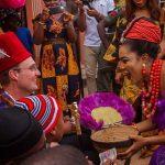 Oyinbo Man Rocks Isiagu And Agbada In Traditional Wedding Photos