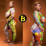 Lady Rocks Body Painting Of Ghanaian Celebrities' Names & Events Of 2017