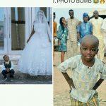 Little Boy Who Photobombed A Wedding Wows In Wedding Photoshoot With Olajumoke (Pics)
