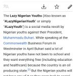 Lazy Nigerian Youths Gets Wikipedia Page (Photos)