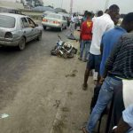Police Van Falls Off A Bridge While Chasing Yahoo Boys In Port-Harcourt (Photos)