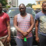 Cars, Laptops Recovered As EFCC Arrest Three 'Yahoo' Boys In Lagos (Photos)
