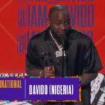 Davido Wins 2018 BET Best International Act Award + Acceptance Speech