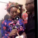 Watch DJ Cuppy Feeding Femi Otedola And He Kissed Her (video)