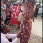 Lady In Tears As She Says No To Her Boyfriend In Public Despite The Cameras (Photos)