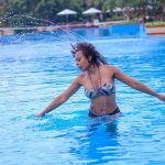 Tboss Bikini Pool Photoshoot In Tanzania