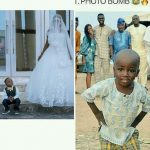 Little Boy Who Photobombed A Wedding Wows In Wedding Photoshoot With Olajumoke (Pics)